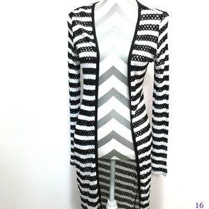 Tart Black & White Striped Lillian Cardigan Size S
